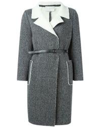 L'Autre Chose | Black Belted Coat | Lyst