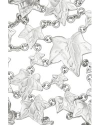 Alexander McQueen - Metallic Ivy Leave Set Of Two Silver-plated Finger Bracelets - Lyst