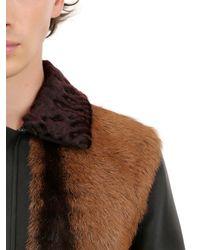 Valentino Black Reversible Fur & Tweed Jacket for men