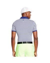 Ralph Lauren - Blue Slim-fit Striped Polo Shirt for Men - Lyst