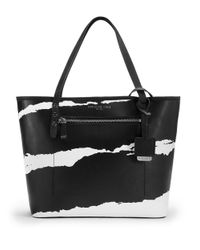 Kenneth Cole | Black Dover Street Leather Tote Bag | Lyst