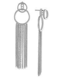 Vince Camuto | Metallic Gold-tone Tassel Jacket Earrings | Lyst