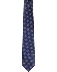 Canali | Blue Mini Squares Silk Tie for Men | Lyst