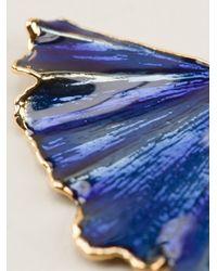 Aurelie Bidermann - Blue 'Ginkgo' Earrings - Lyst