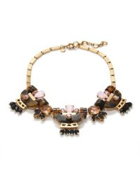 J.Crew - Metallic Tortoise Crystal Necklace - Lyst