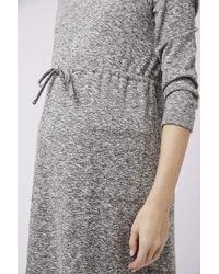 TOPSHOP - Gray Maternity Drawstring Dress - Lyst