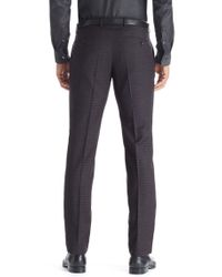 BOSS - Gray 'genesis' | Slim Fit, Virgin Wool Dress Pants for Men - Lyst