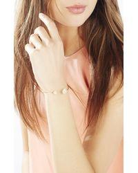 BCBGMAXAZRIA - Pink Natural Stone Wire Bracelet - Lyst