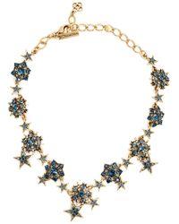Oscar de la Renta | Blue Crystal Embellished Star Necklace | Lyst