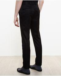 Alexander McQueen - Black Slim Cotton Trousers for Men - Lyst