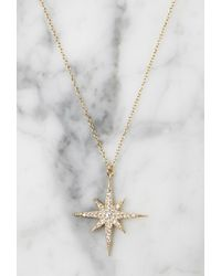 Forever 21 - Metallic Lucky Star North Star Necklace - Lyst