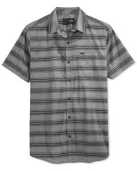 Hurley | Gray Banner Striped Short-sleeve Shirt for Men | Lyst