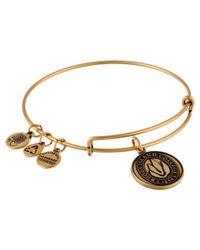 ALEX AND ANI | Metallic Rhode Island College® Logo Charm Bangle | Lyst