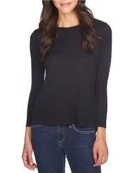 1.STATE | Black Twisted Open-back Top | Lyst