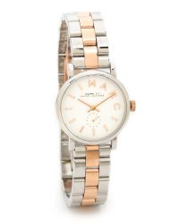 Marc By Marc Jacobs Metallic Baker Watch - Two Tone Silver/Rose Gold