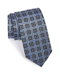 JZ Richards | Blue Woven Silk Tie for Men | Lyst