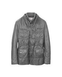 FORZIERI | Dark Gray Zip Leather Jacket for Men | Lyst