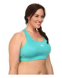 Nike Green Pro Victory Compression Sports Bra Extended