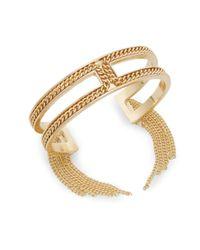BCBGeneration | Metallic Snake Charmer Small Fringe Cuff Bracelet/goldtone | Lyst