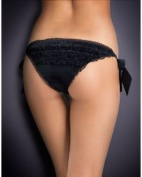Agent Provocateur - Adda Tie Side Black - Lyst