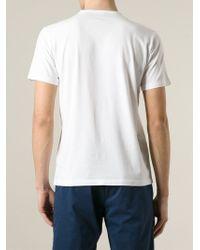 Aspesi - White V-Neck T-Shirt for Men - Lyst