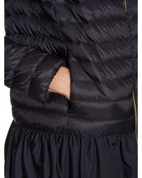 Moncler Black Dragonnet Quilted Down Coat