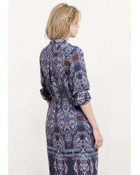 Violeta by Mango Purple Printed Shirt Dress