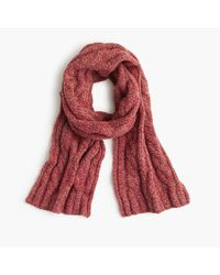 J.Crew | Red Lambswool Cable Scarf for Men | Lyst