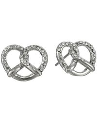 Marc By Marc Jacobs | Metallic Salty Pretzel Studs Earring | Lyst