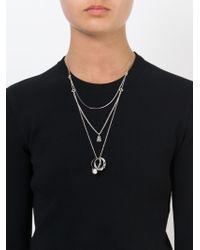 Maison Margiela   Metallic Ring Pendant Necklace   Lyst
