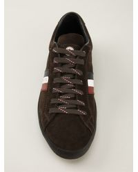 Moncler - Brown Lace Up Trainer for Men - Lyst