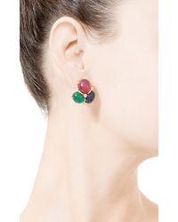 Seaman Schepps | Multicolor Cabochon Earrings in Precious Stones | Lyst