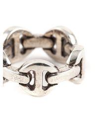 Hoorsenbuhs   Metallic Classic Tri-link Ring for Men   Lyst