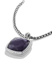 David Yurman Albion Pendant With Black Orchid With Diamonds