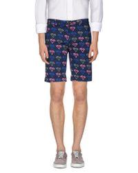 Pence - Blue Bermuda Shorts for Men - Lyst