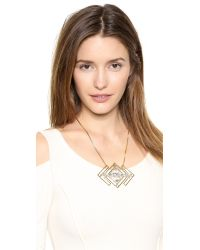 Auden Metallic Harlow Necklace - Gold/Clear