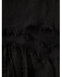 Rick Owens - Black Frayed Scarf for Men - Lyst