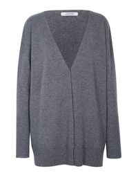 Dorothee Schumacher | Gray Ecstatic Ease Cardigan V-neck 1/1 | Lyst