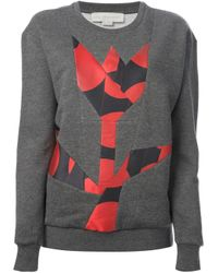 Stella McCartney - Gray Flower Pattern Sweatshirt - Lyst