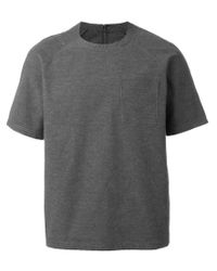 Sunnei Gray Raglan Pocket T-shirt for men