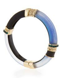 Alexis Bittar | Blue Lucite Colorblock Cabochon Hinge Bracelet | Lyst