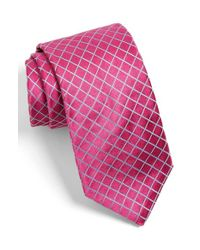 Ted Baker Pink Check Silk Tie for men
