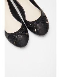 Forever 21 | Black Perforated Ballet Flats | Lyst