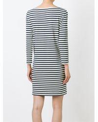 Tory Burch - Blue Printed Cotton T-shirt Dress - Lyst