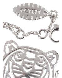 KENZO - Metallic Silver Tone Cut-Out Tiger Bracelet - Lyst
