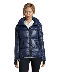 S13/nyc - Blue Navy Quilted 'rider' Short Zip Down Jacket - Lyst