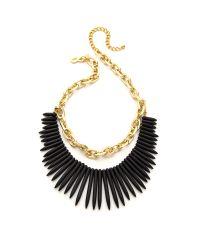 Kenneth Jay Lane - Stone Fringe Chain Necklace - Black - Lyst