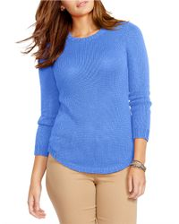 Lauren by Ralph Lauren | Blue Plus Crewneck Sweater | Lyst