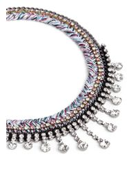 Venessa Arizaga | Metallic 'miss Mayhem' Rhinestone Necklace | Lyst