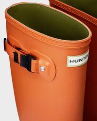 HUNTER - Orange Women's Huntress Contrast Wellington Boots - Lyst